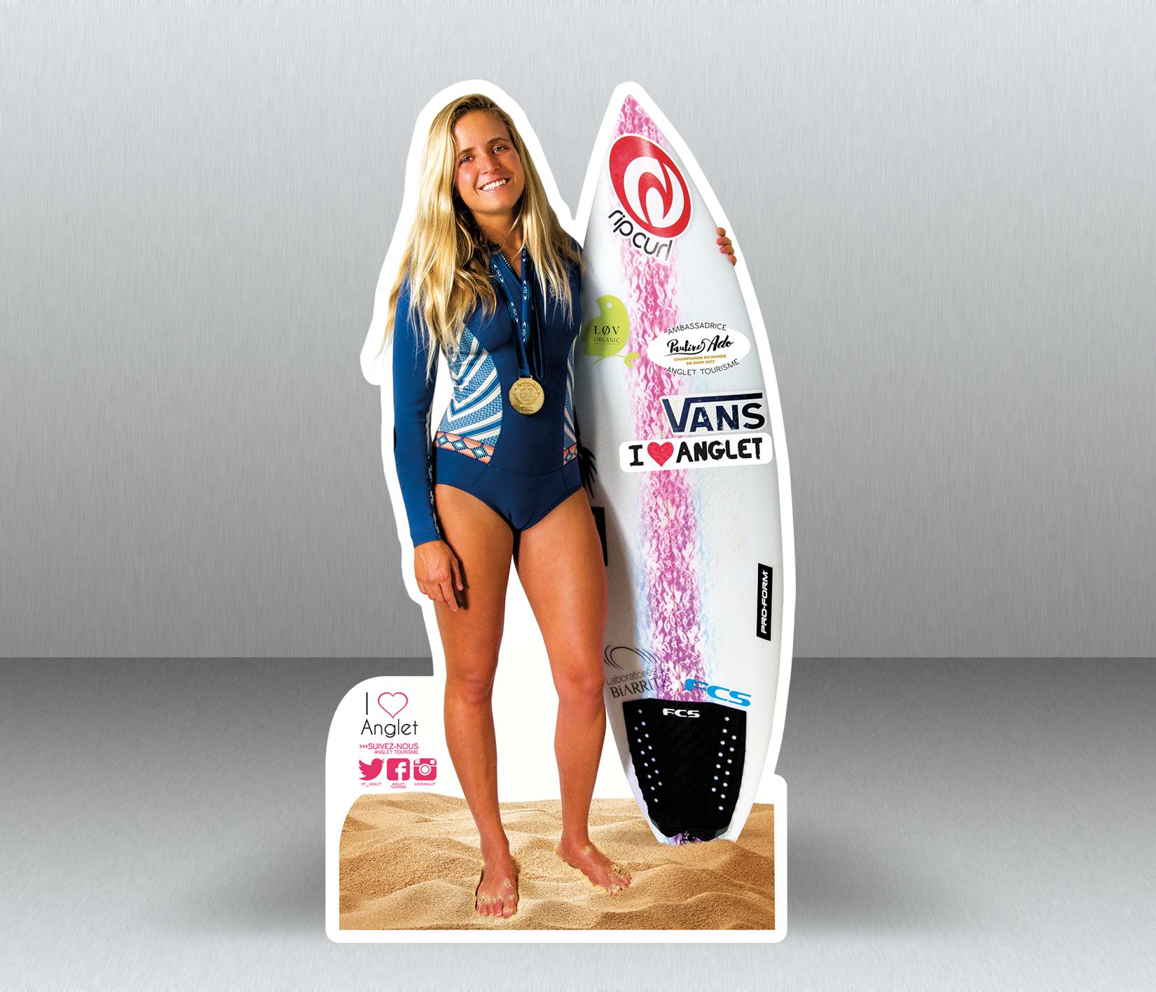 Pauline Ado - Championne du monde surf 2017 à Biarritz